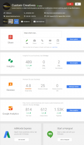 Dashboard - Google My Business