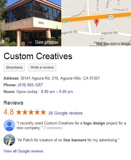 Custom Creatives Google Places for Business