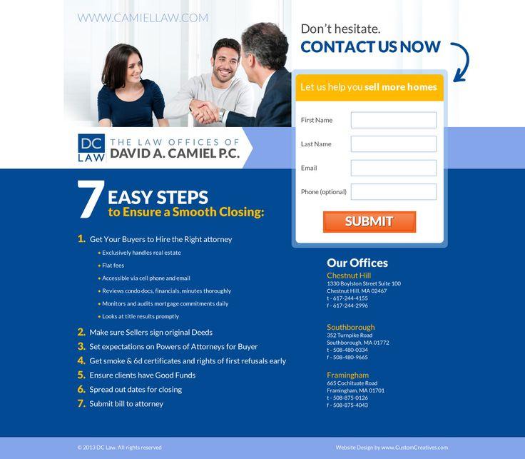 Camiel Law Landing Page