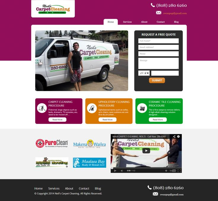 Website Design - Neil's Carpet Cleaning