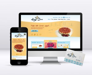 Honey Bare Website & Business Cards