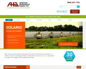 American Horticultural Supply Website Redesign