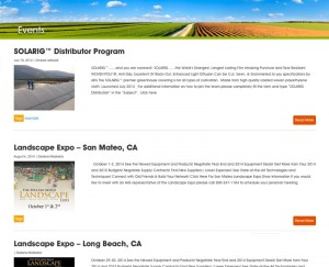 American Horticultural Supply Webpage Design