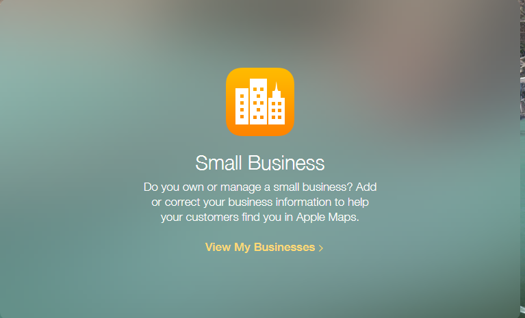 Apple Maps Connect - Small Business Page