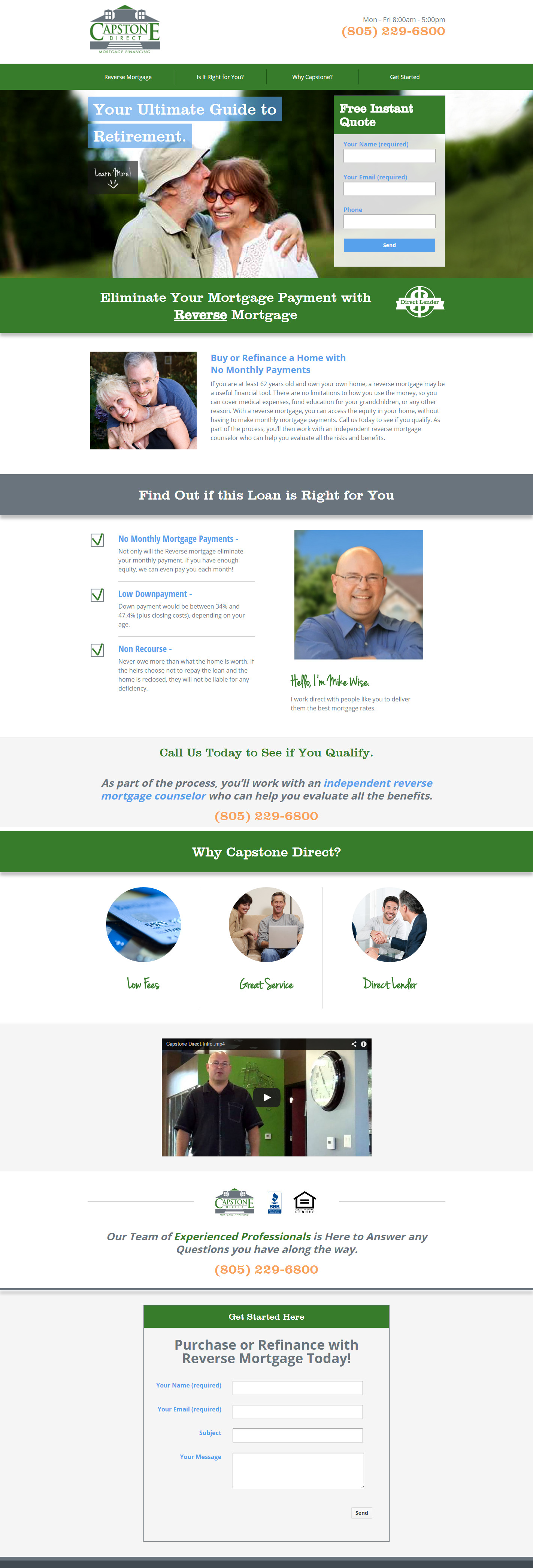 Landing Page Example - Capstone Direct
