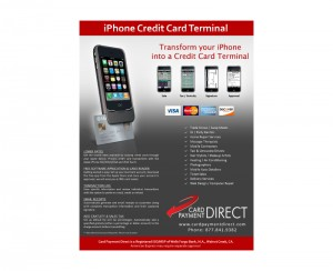 Card Payment Direct Flyer Graphic Design