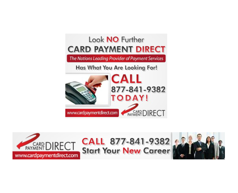 Card Payment Direct Marketing Collateral Design