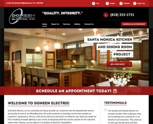 Doneen Electric Homepage Design