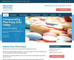 Home Care Pharmacy Website Design