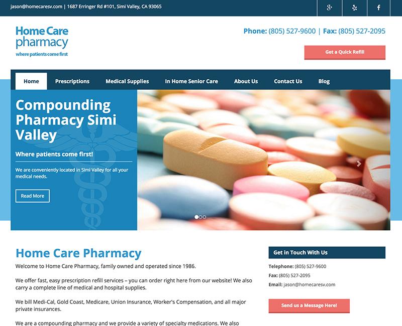 Home Care Pharmacy|Development Portfolio|Custom Creatives