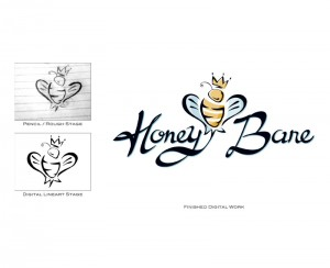 Honey Bare Mockup to Final Design