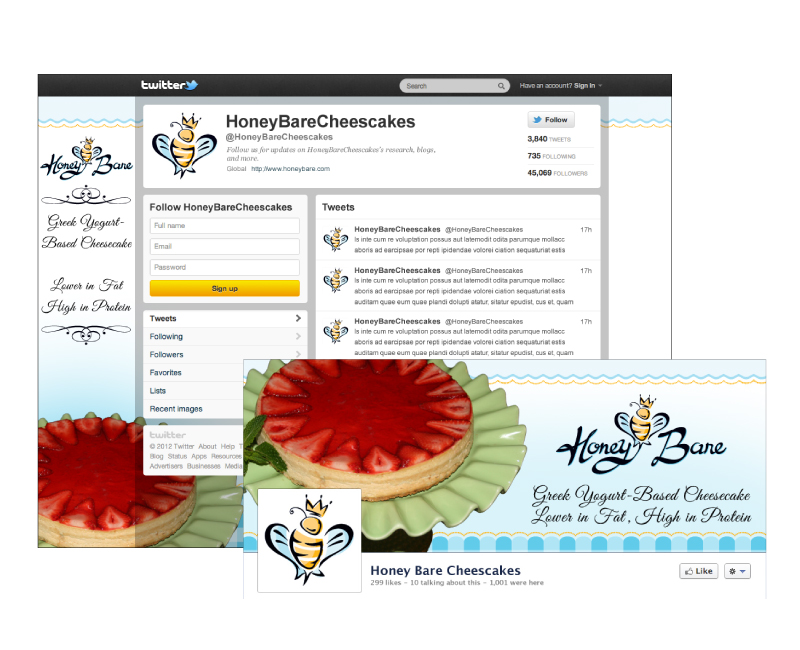 Honey Bare Social Media Design