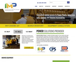IMP Corporation Homepage Redesign
