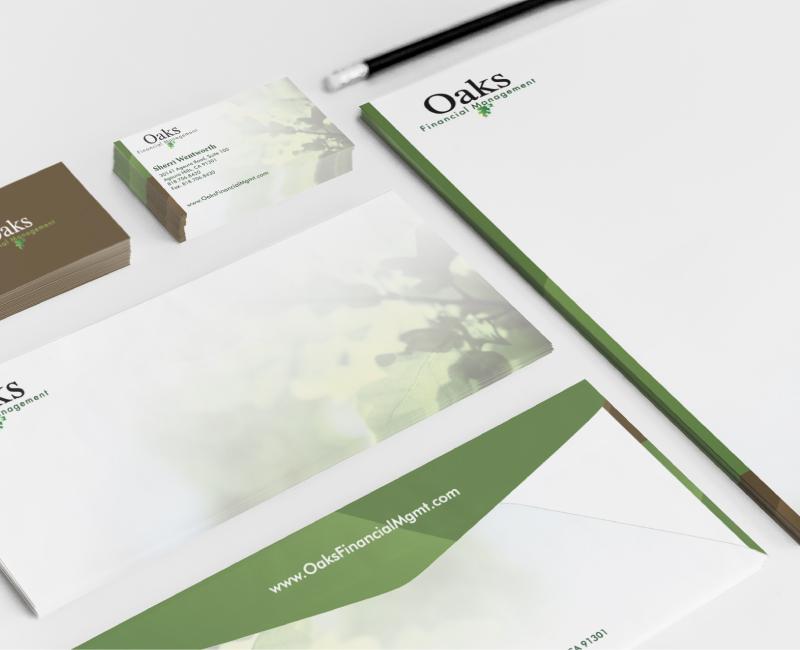 Oaks Financial Management Corporate Branding Design