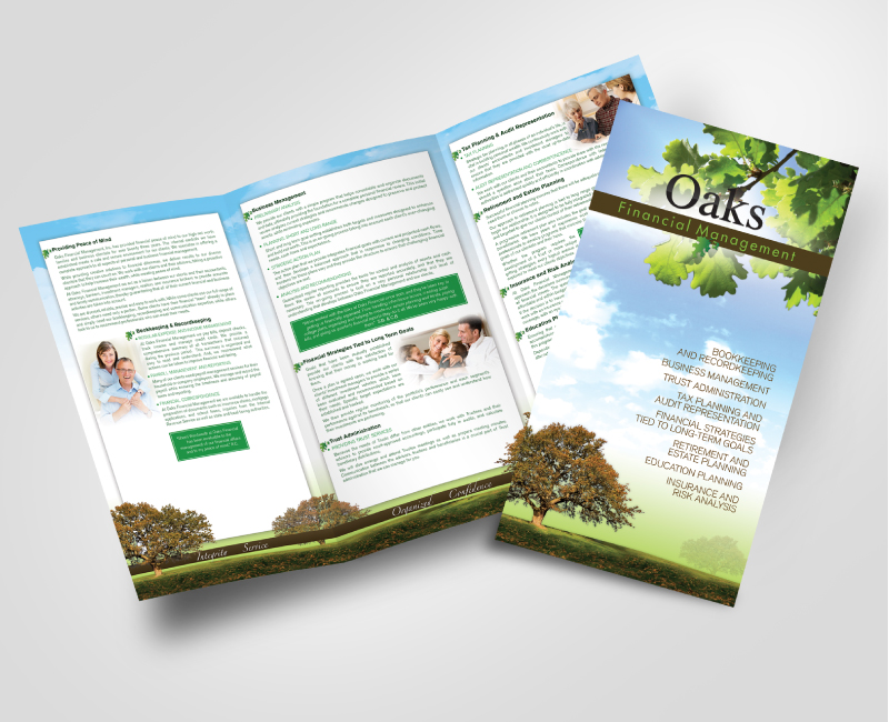 Oaks Financial Management Brochure Design