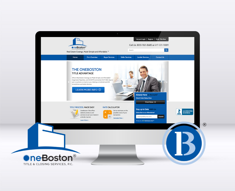 OneBoston Title Website Design by Custom Creatives