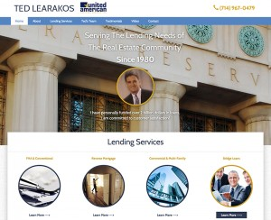 Ted Learakos Website Redesign
