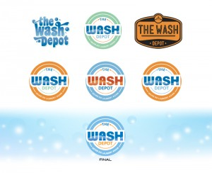 Wash Depot Logo Design Ideas