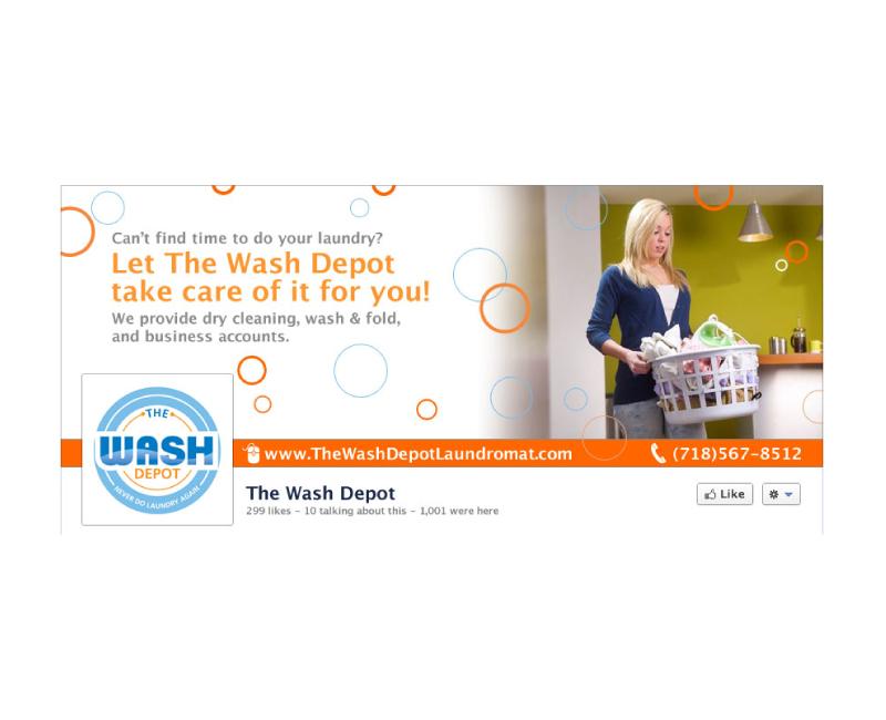 Wash Depot Social Media Branding