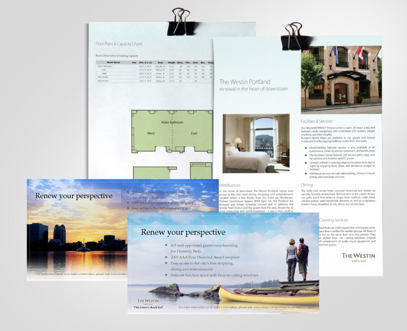 Westin Hotel Marketing Collateral Design