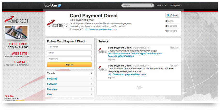 Card Payment Direct Twitter Skin