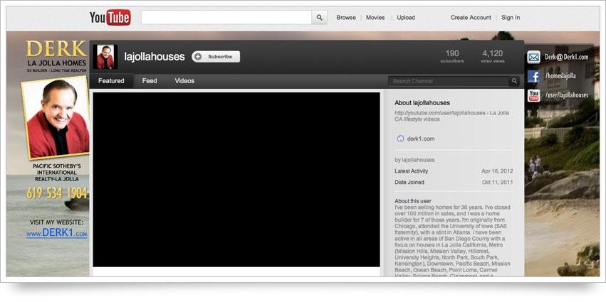 La Jolla Homes YouTube Skin