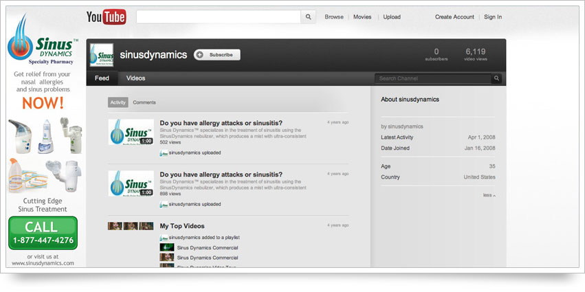 Sinus Dynamics YouTube Skin