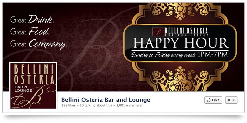 Bellini Osteria Facebook Skin
