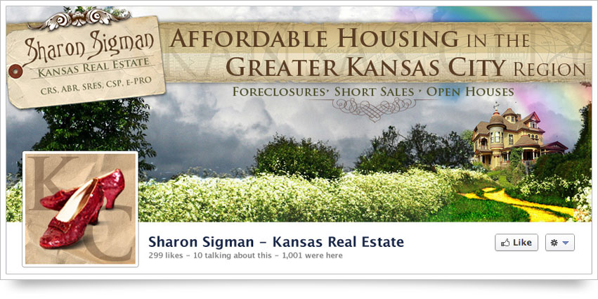 Kansas Real Estate Facebook Skin