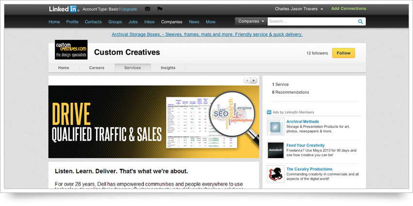 Custom Creatives LinkedIn Skin