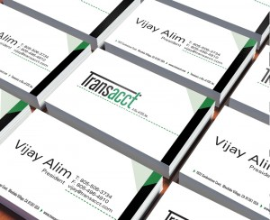 Transacct Business Card Design
