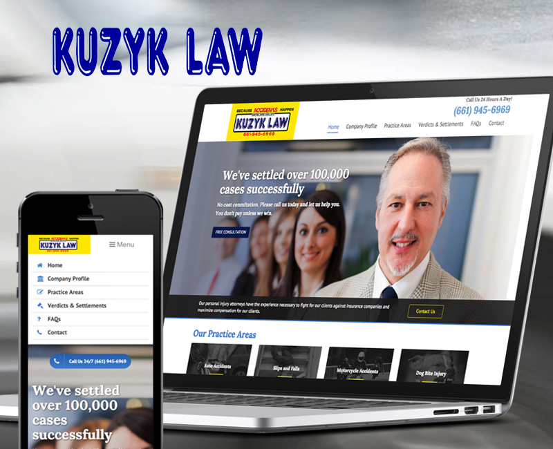 Kuzyk Law - Website Design Portfolio Image 1