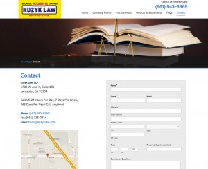 Kuzyk Law – Contact Page 1