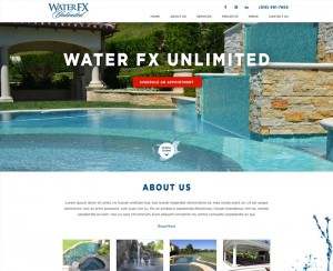 Water FX Website Design