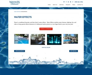 Water FX Inner Page Design