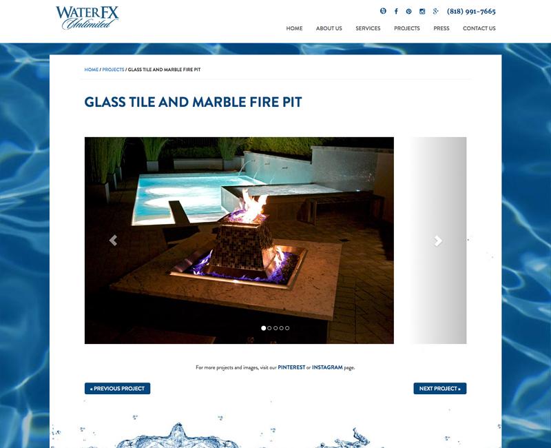 Water FX Webpage Design