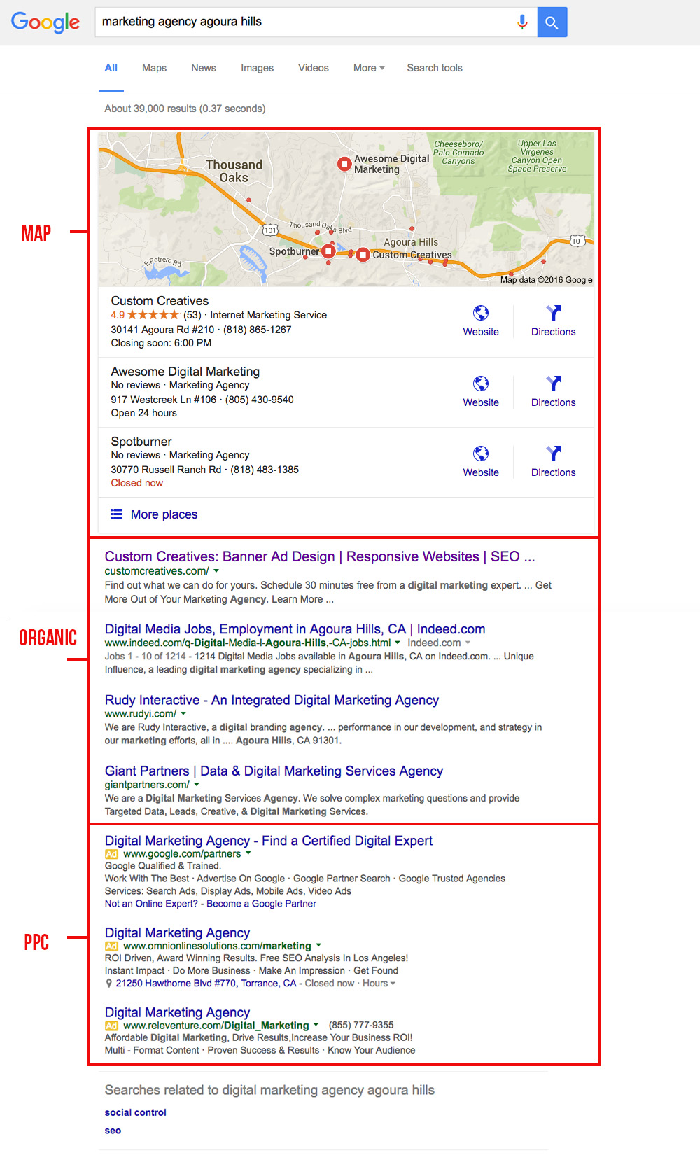 Google Search Results - Internet Marketing