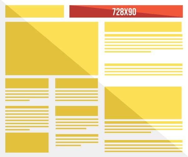 Leaderboard Banner Ad - 728 x 90 pixels