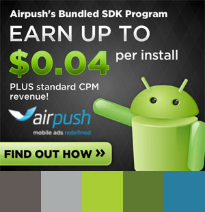 AirPush Banner Ad Color Palette