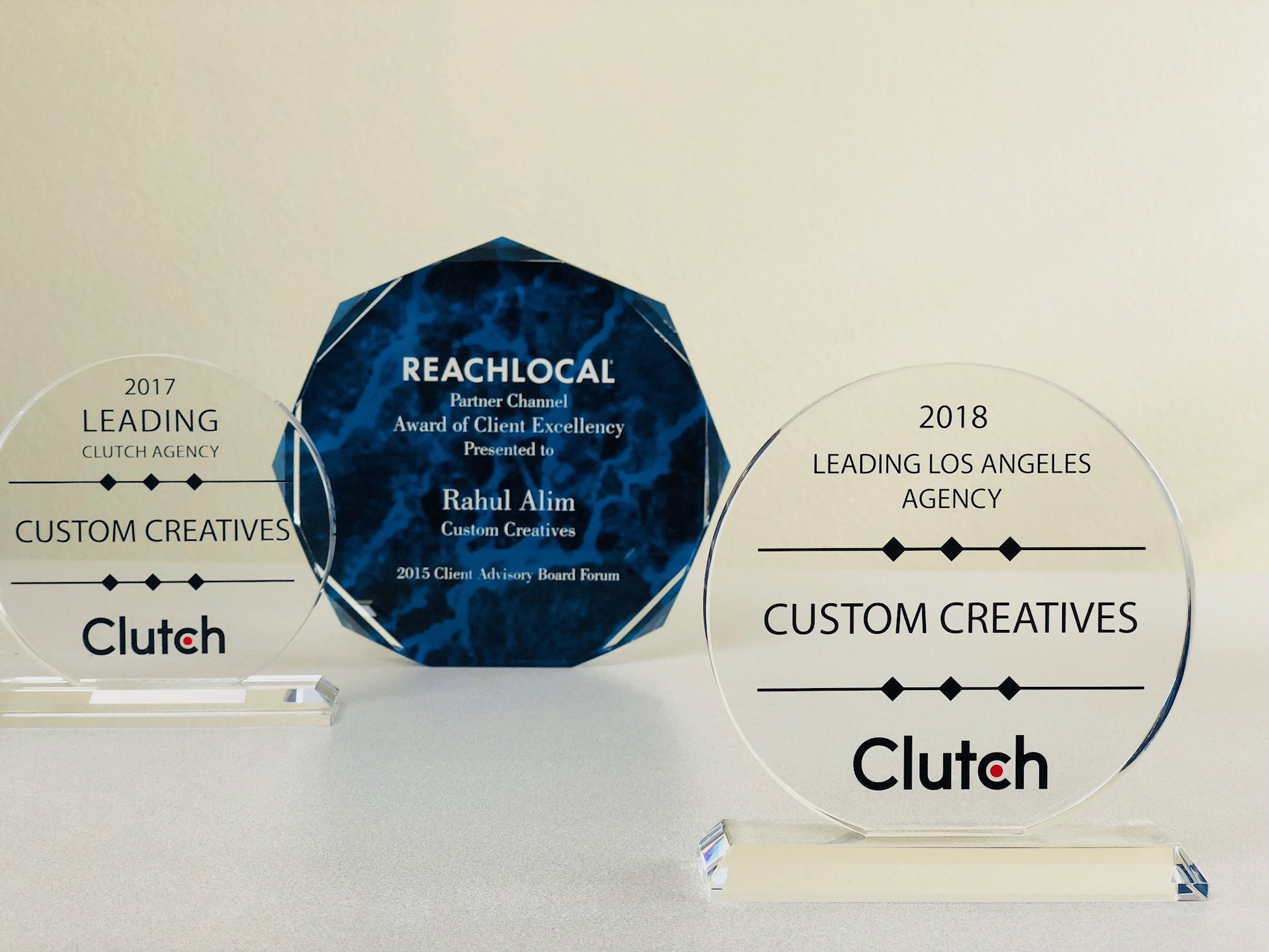 Custom Creatives Ranks on Clutch and Manifest